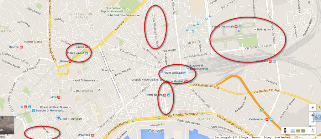 Napoli, quartieri da evitare